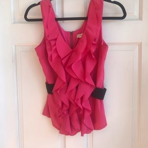 Ruffle front boutique top